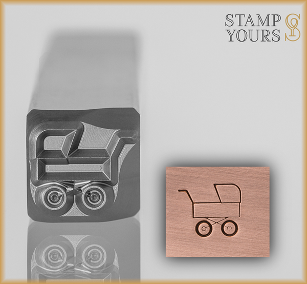 Baby Buggy Design Stamp 7mm - Stamp Yours