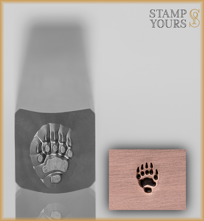 Bear Track Design Stamp 4mm - Stamp Yours