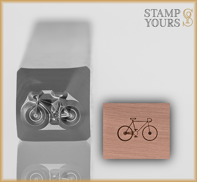 Bicycle Design Stamp 4.5mm - Stamp Yours