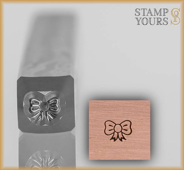 Bow Ribbon Design Stamp 3mm - Stamp Yours