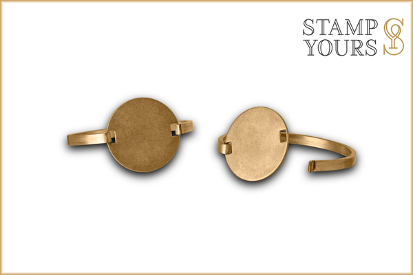 "3/16"" Round Brass Bracelet with Swing Top - Stamp Yours"