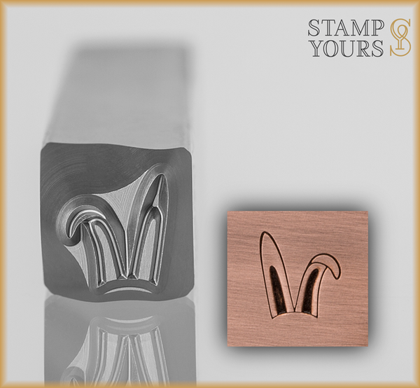 Bunny Ears Design Stamp 7mm - Stamp Yours