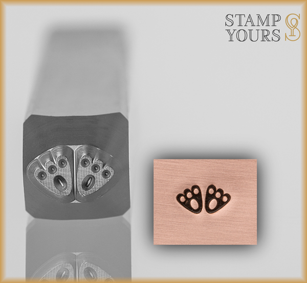 Bunny Feet Design Stamp 3mm - Stamp Yours