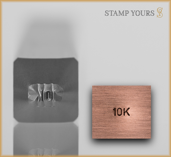 Stamp Yours 10k Metal Jewelry Hallmark Stamp