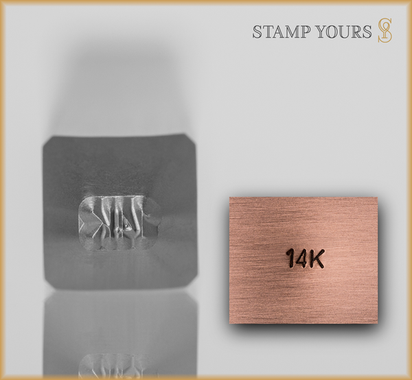 Stamp Yours 14k Metal Jewelry Hallmark Stamp