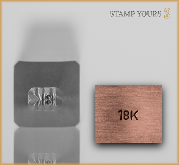 18k Jewelry Hallmark Stamp - Stamp Yours