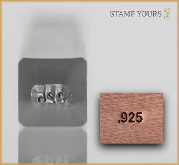 Stamp Yours .925 Metal Jewelry Hallmark Stamp