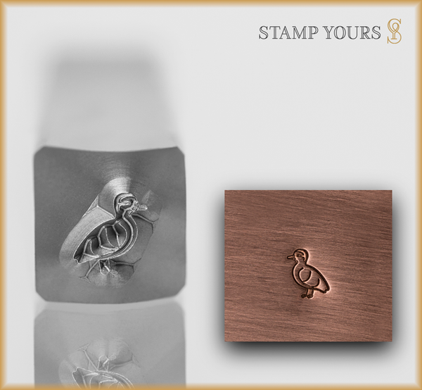 Baby Duckling Metal Design Stamp - Stamp Yours