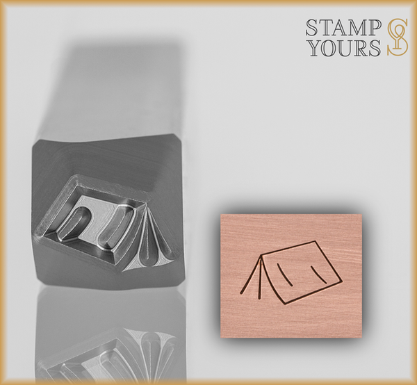 Camping Tent Design Stamp 5mm - Stamp Yours