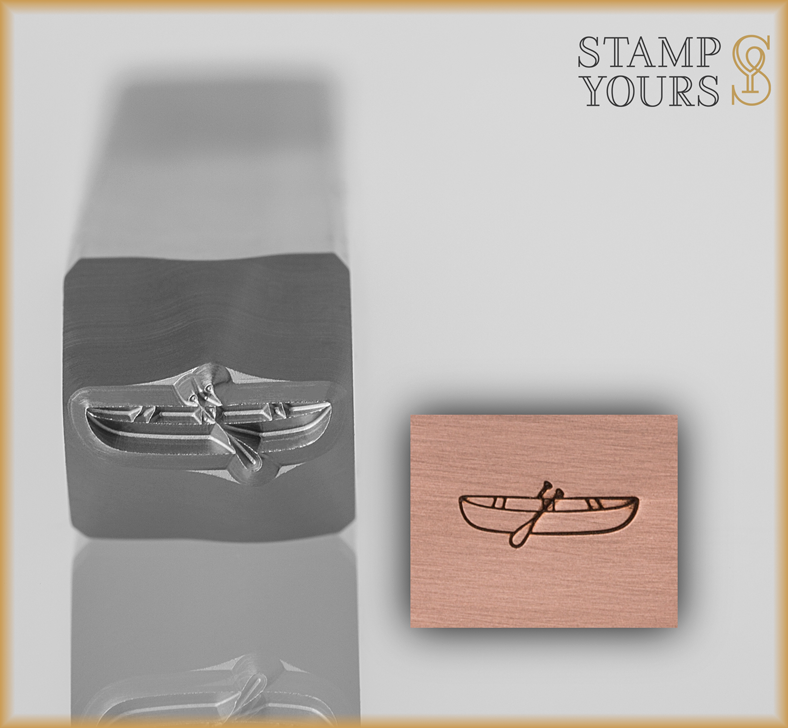 Canoe Design Stamp 3mm - Stamp Yours