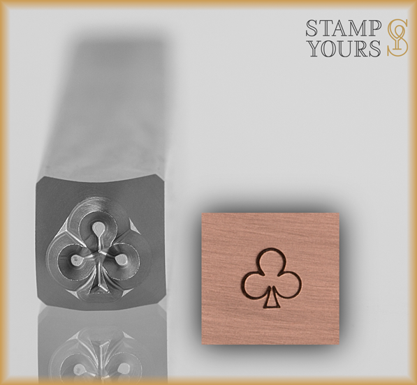 Club Suit Design Stamp 4mm - Stamp Yours