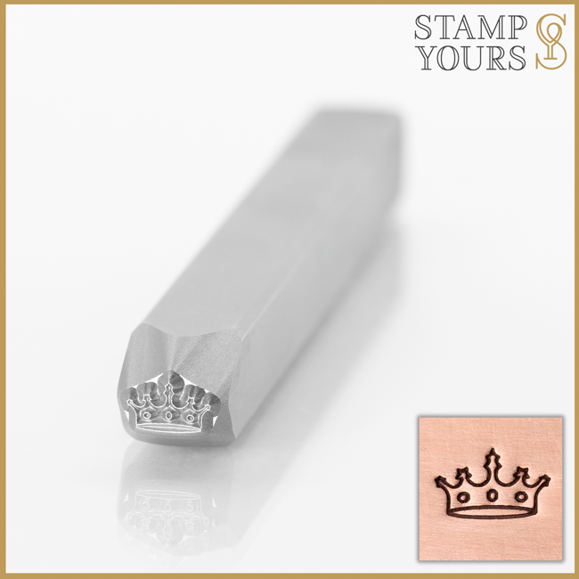 Crown Metal Stamp Design for Jewelry and Stainless Steel By Stamp Yours
