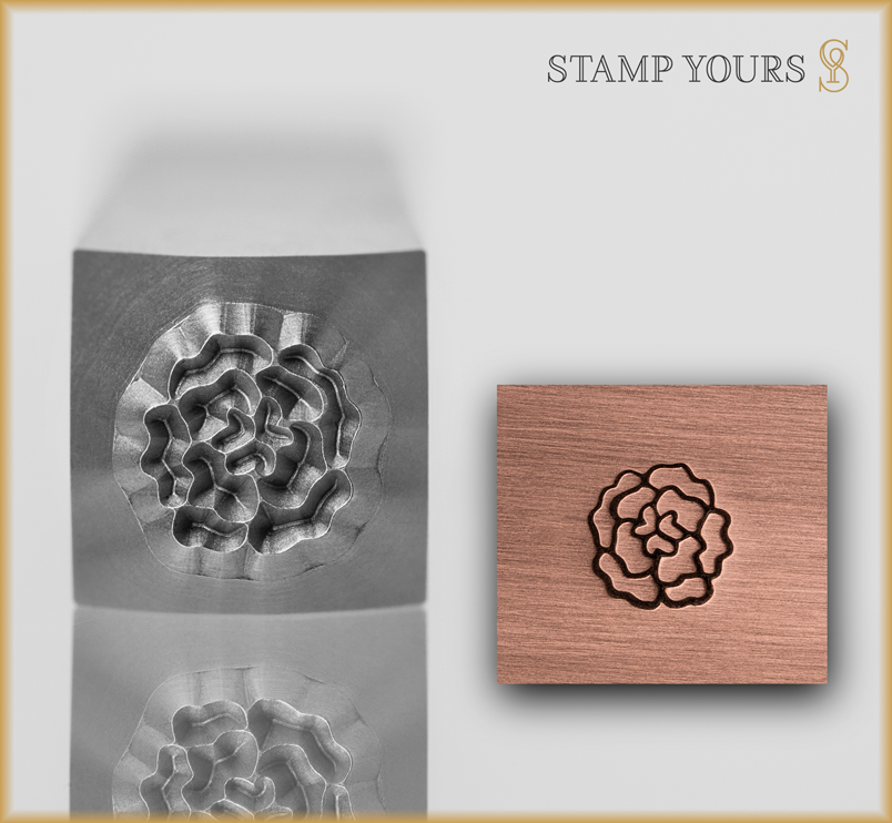 Carnation Style 1 Design Stamp - Stamp Yours