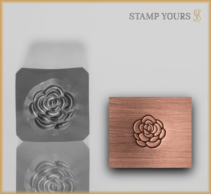 Rose Style 1 Design Stamp - Stamp Yours