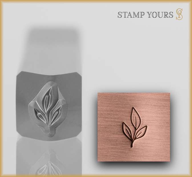 Leaves with Stem Design Stamp - Stamp Yours