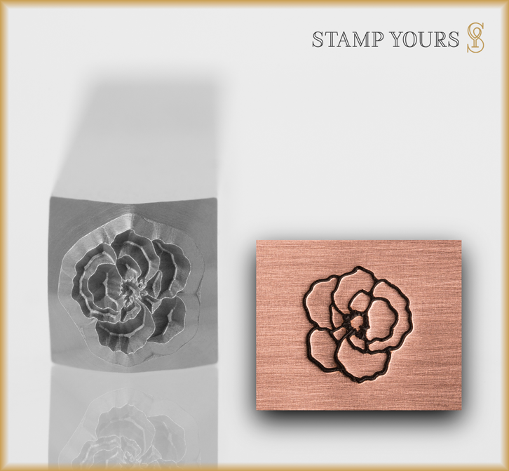 Carnation Style 2 Design Stamp - Stamp Yours