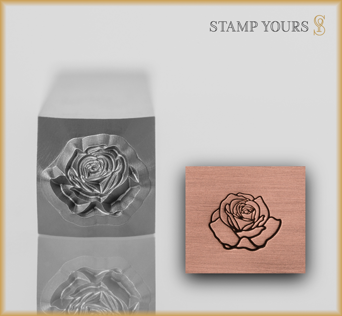 Rose Style 2 Design Stamp - Stamp Yours