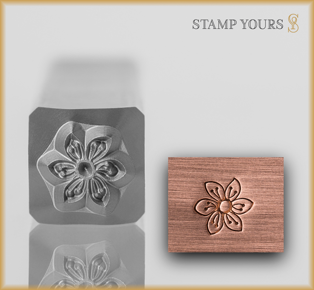 Flower Style 2 Design Stamp - Stamp Yours