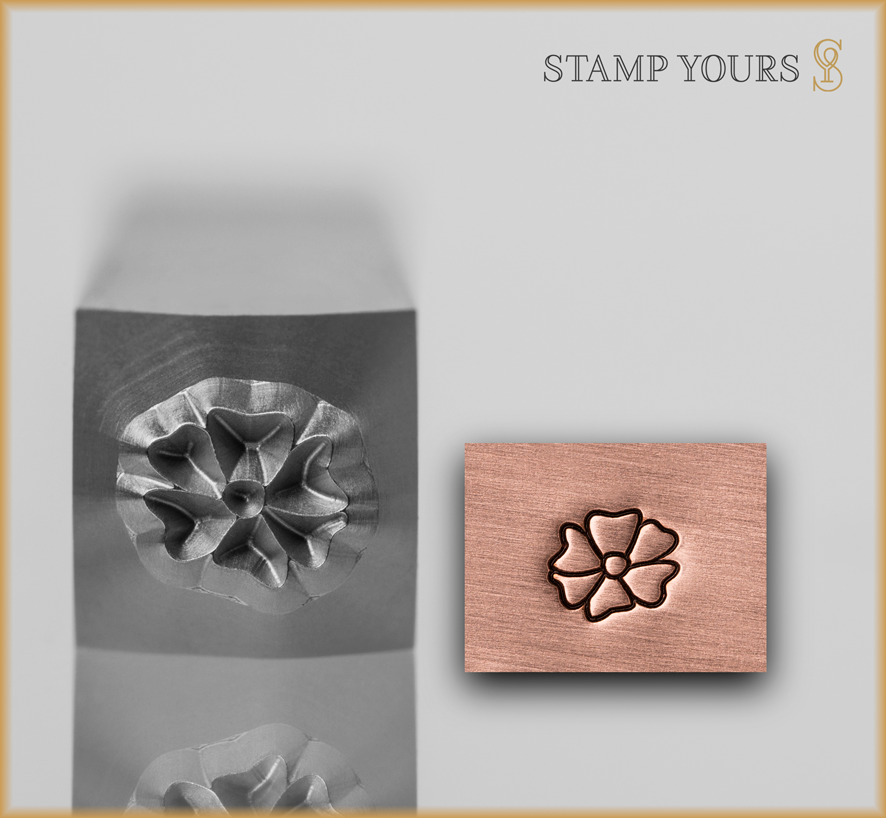 Flower Style 3 Design Stamp - Stamp Yours