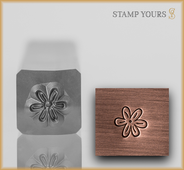 Flower Style 4 Design Stamp - Stamp Yours