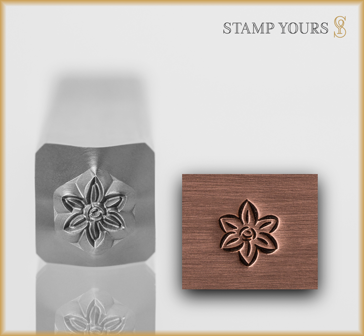 Flower Style 5 Design Stamp - Stamp Yours