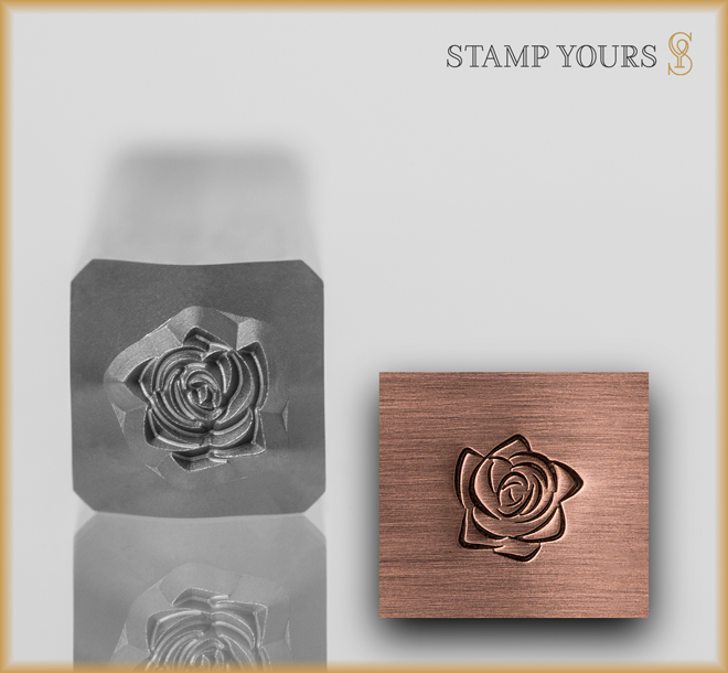 Rose Style 3 Design Stamp - Stamp Yours