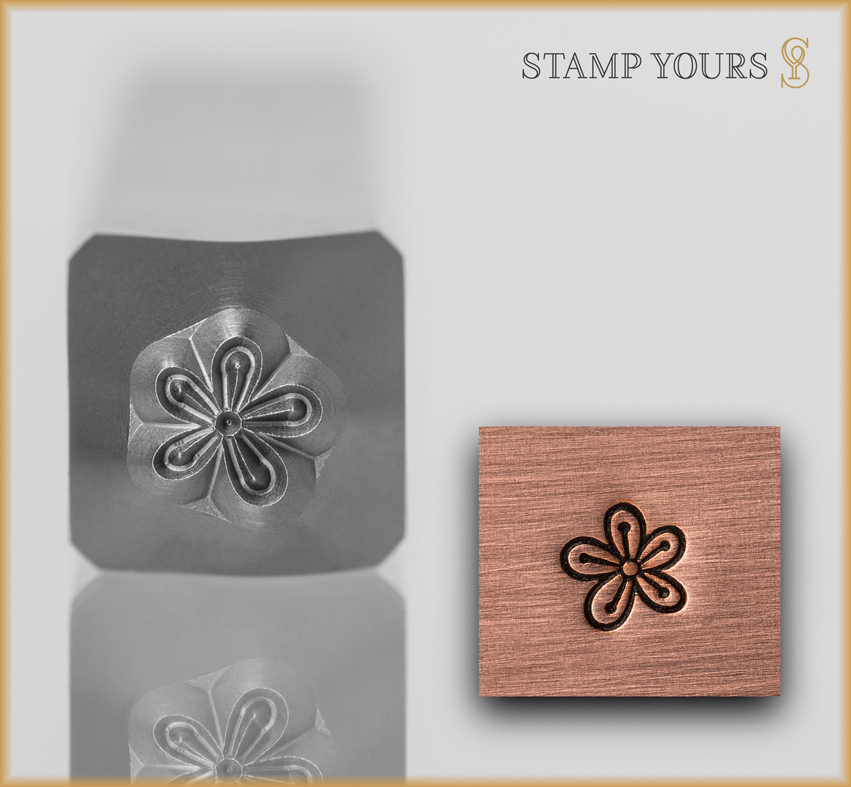 Flower Style 6 Design Stamp - Stamp Yours
