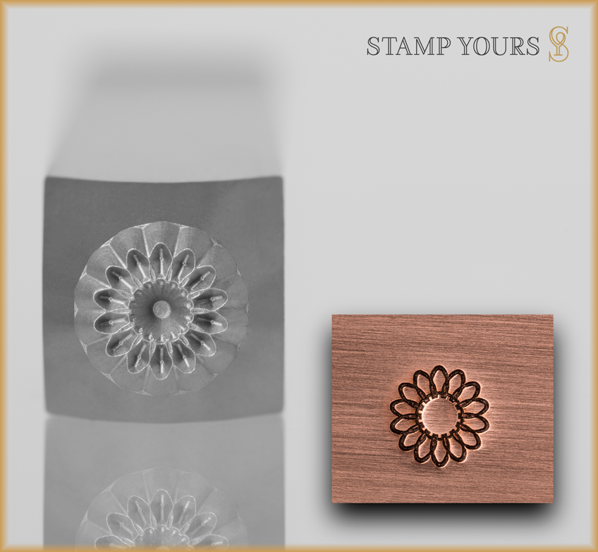 Sunflower Design Stamp - Stamp Yours