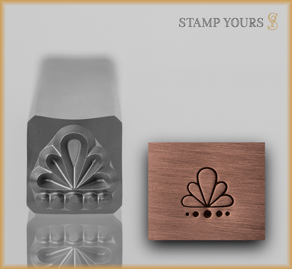 Stamp Yours Art Deco Pattern 2 Metal Design Stamp