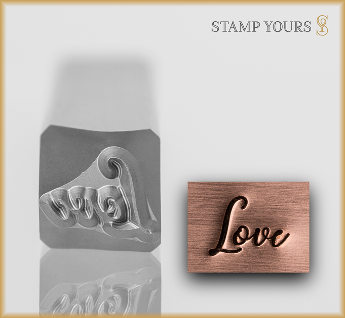 "Hand Lettered Word ""Love"" - Stamp Yours"