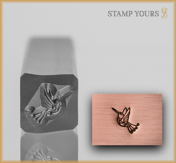 Stamp Yours Swirly Tail Humming Bird Metal Design Stamp