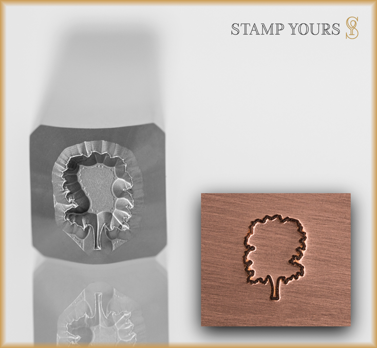 Oak Tree Outline - Stamp Yours