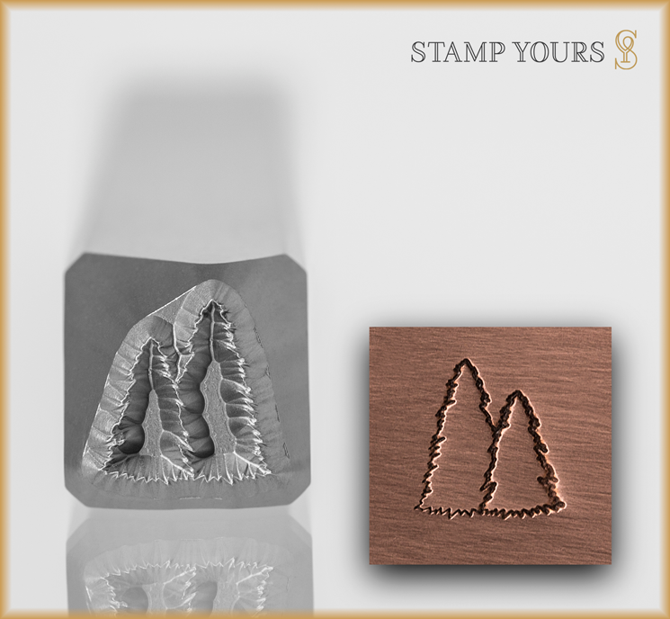 Spruce Trees Outline - Stamp Yours