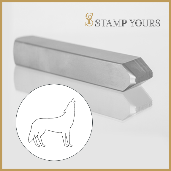 Wolf Metal Stamp - Stamp Yours
