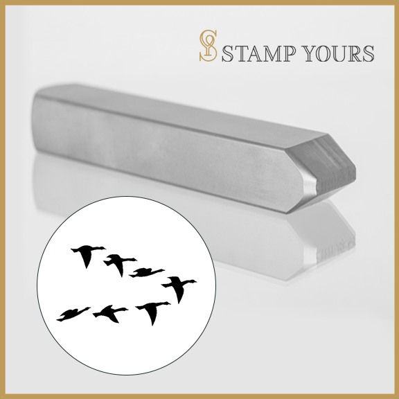 Geese Flock Metal Stamp - Stamp Yours