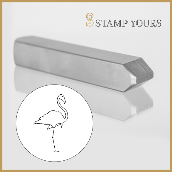 Flamingo Metal Stamp - Stamp Yours