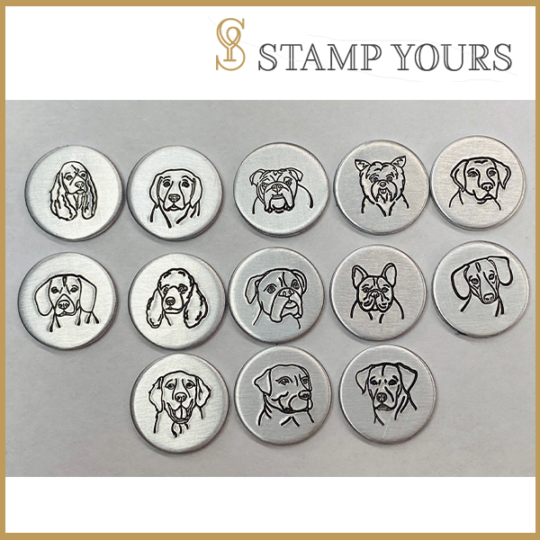 14 Dogs Metal Stamp Bundle - Stamp Yours