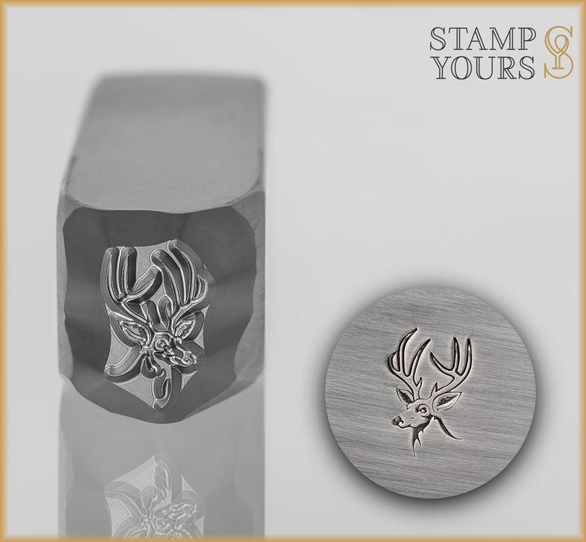 Deer Head Design Stamp - Stamp Yours