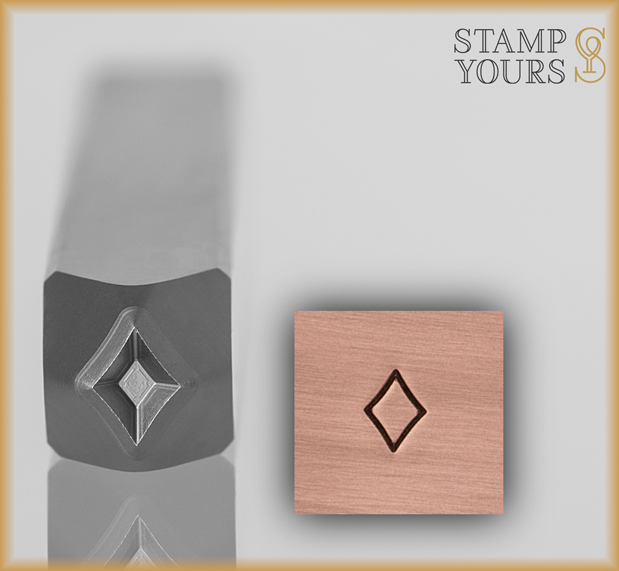 Diamond Suit Design Stamp 4mm - Stamp Yours