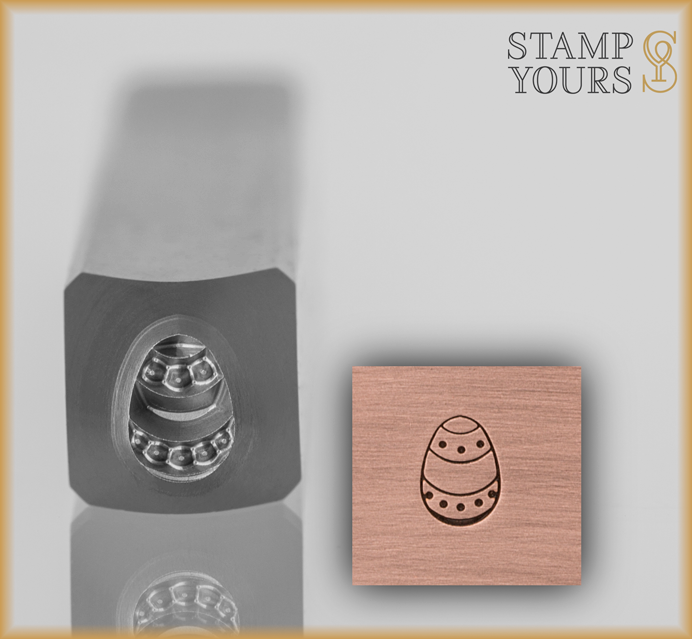 Dotted Easter Egg Design Stamp 5mm - Stamp Yours