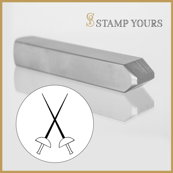 Fencing Sabre Metal Stamp - Stamp Yours