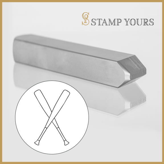 Baseball Bats Metal Stamp - Stamp Yours