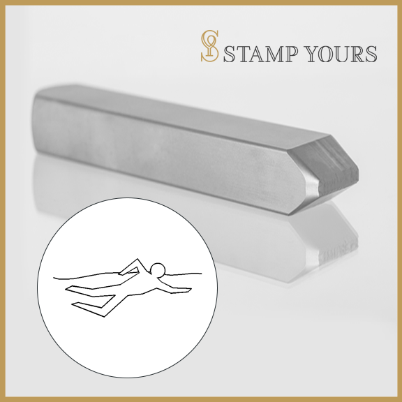 Swimmer Metal Stamp - Stamp Yours