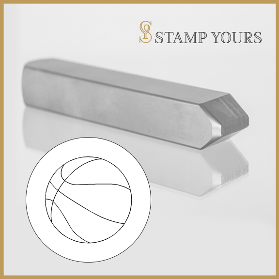 Basketball Metal Stamp - Stamp Yours