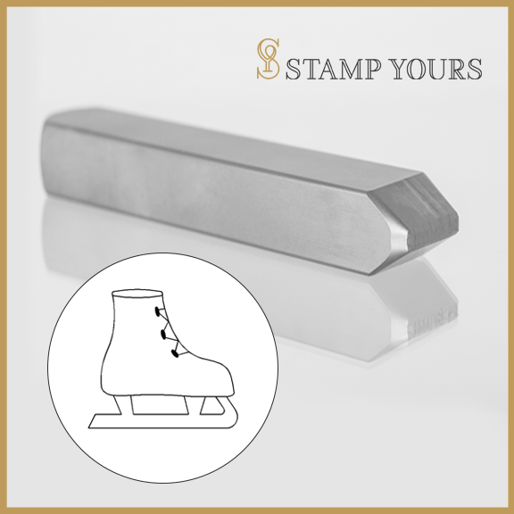 Ice Skate Metal Stamp - Stamp Yours
