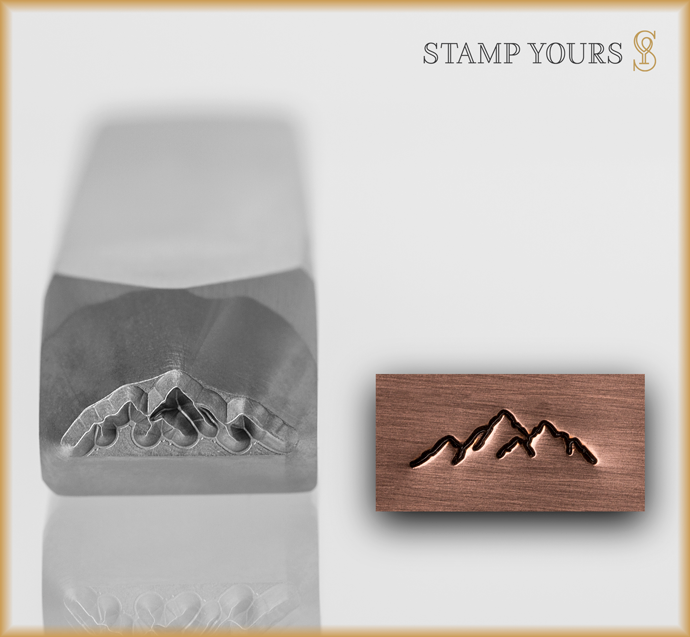 Mini Mountain Range #1 - Stamp Yours