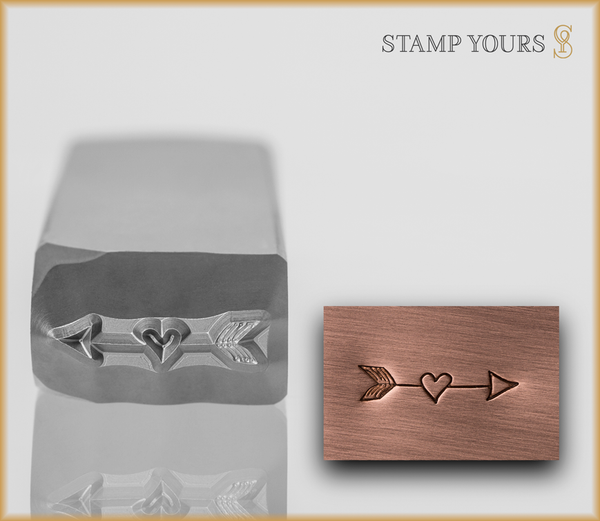 Heart Arrow Design - Stamp Yours