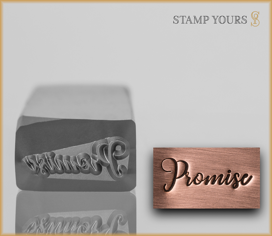 "Hand Lettered Word ""Promise"" - Stamp Yours"