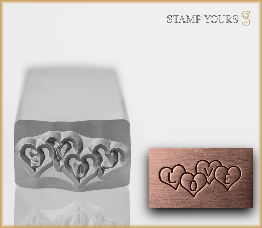 "Cluster Heart ""Love"" - Stamp Yours"