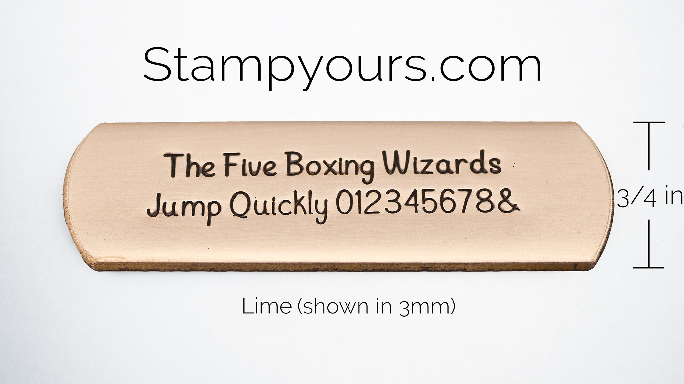 Lime ( 2.5mm-5mm ) - Stamp Yours